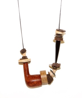 """Ceci n'est pas une pipe (Day 22). necklace. Selected for """"Not For Sale"""" exhibition, Garland online magazine, Issue 7, 2017)"""