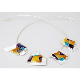 Draw the line. Neckpiece. Sterling silver, enamel. © photo Jeff Atkinson 2009