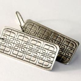 Streetscape Serie. Earrings Hoi An 1. Sterling silver