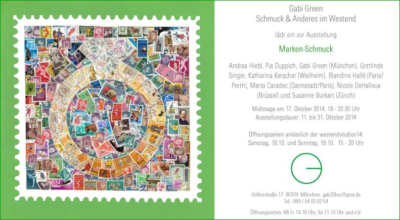 Einladung Marken-Schmuck Studio Green