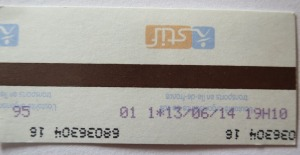 Paris Metro ticket