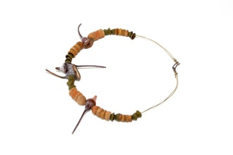 Going organic 1 (Day 4). Neckpiece Eucalyptus pods and nuts