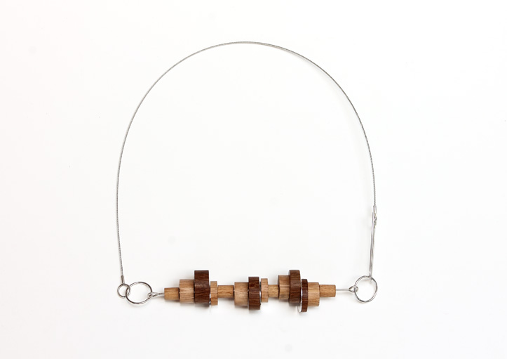 Day 6, Going around in circles. Wood, sterling silver. © Blandine Halle 2015