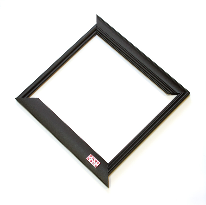 Day 12. Framed. Upcycled wood frames, found lego piece, paint. © Blandine Hallé 2015