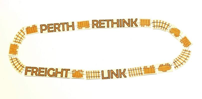 Day 38, Rethink Perth Freight Link. Paper, cardboard, thread. © Blandine Hallé 2015
